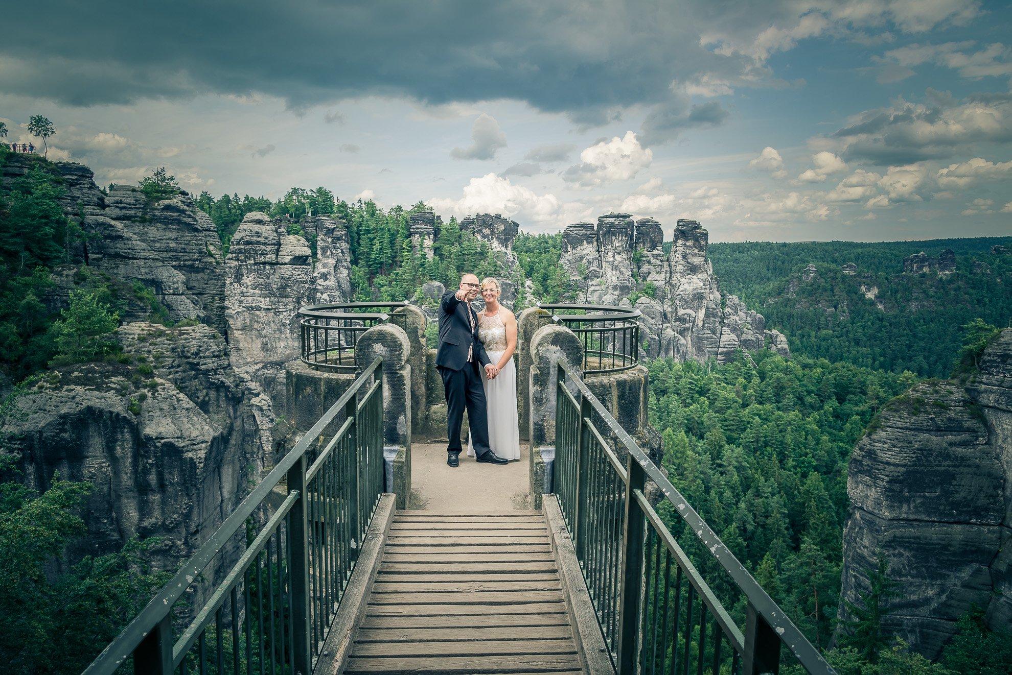 Hochzeit auf der Bastei, Sächsische Schweiz