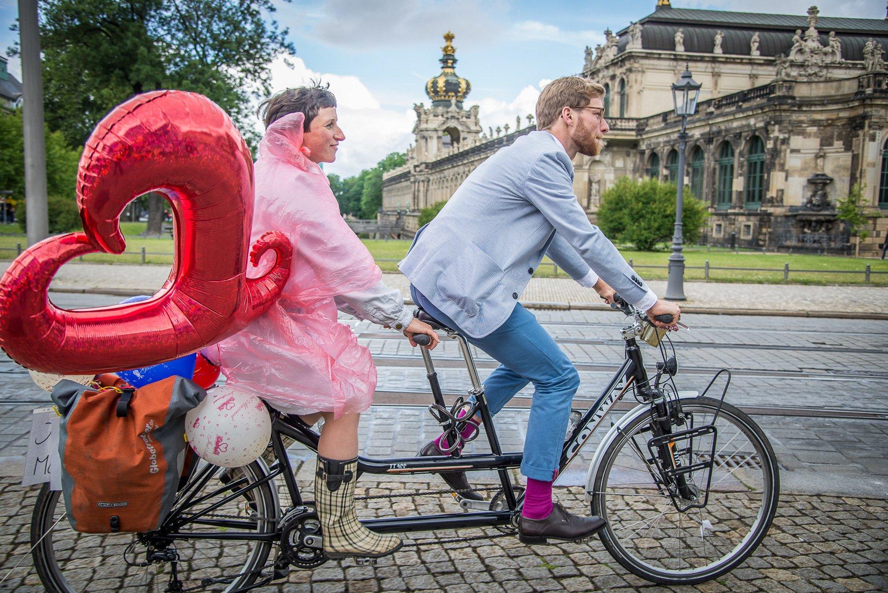 Hochzeit in Dresden - Auf dem Tandem-Rad