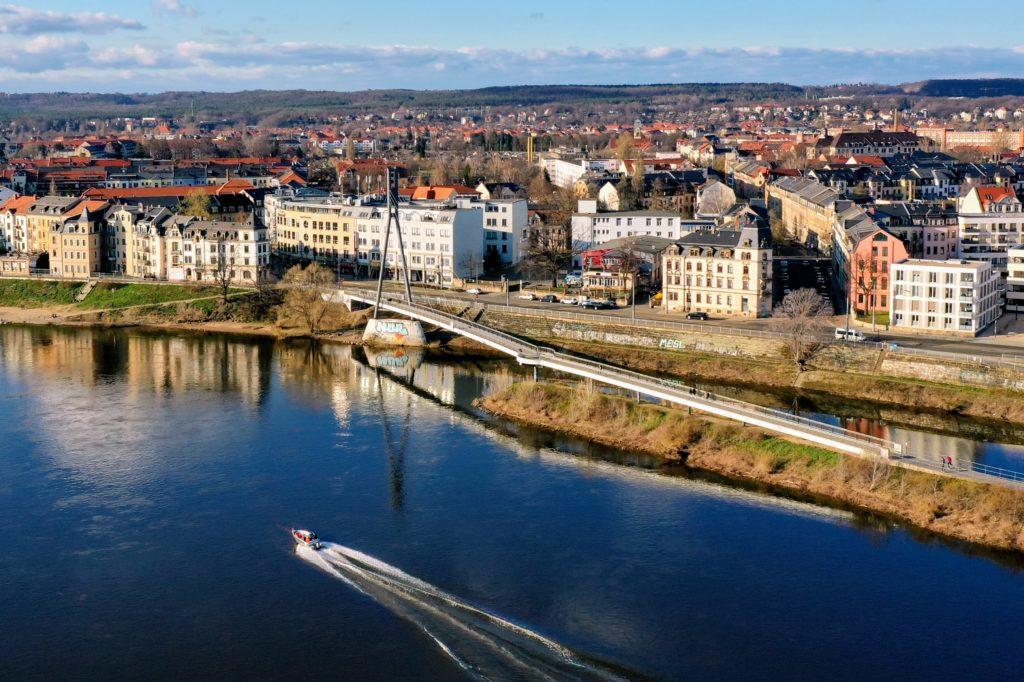 Dresden Pieschen, Hochzeitsfotos und die Elbe